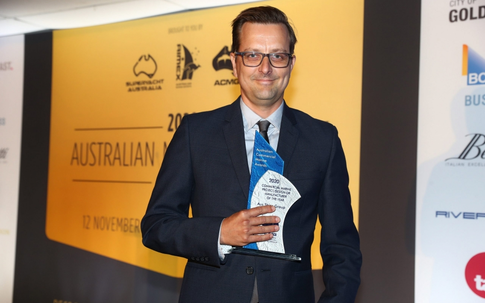 1. Tommy Ericson – Aus Ships Group Commercial Project Design or Manufacturer of the Year Winner